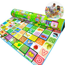 Baby Double Faced Playmats For Kid Room Educational Animal Farm Infant Developing Letter Rug Mat Baby Crawling Mat Random Color