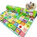 Playmats Para A Sala Do Miúdo Educacional Animal de Fazenda do bebê Dupla Face Tapete Infantil Desenvolvimento Carta Puzzle Mat Bebê Engatinhando Tapete Mat