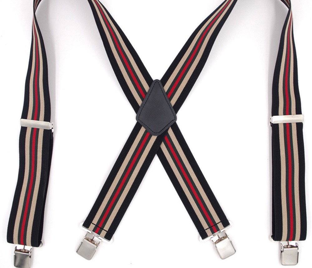 Width 5 CM Mens Braces Y-Back Adjustable Suspender, Wedding Groomsmen Suspenders