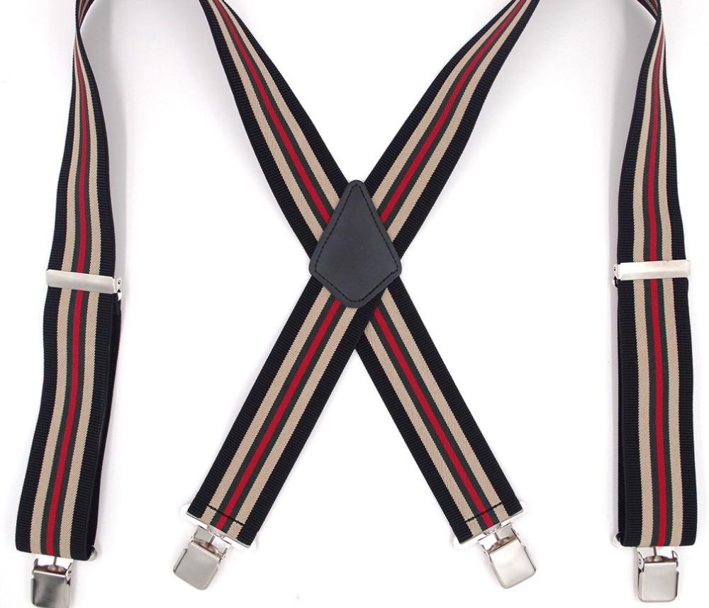 Width 5 CM Mens Braces Y-Back Adjustable Suspender, Wedding Groomsmen Suspenders