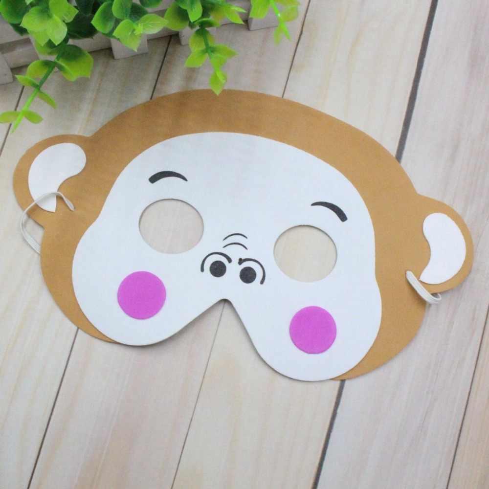 Taoup 1 PC EVA mousse animaux sauvages fête masques tigre Panda zèbre joyeux anniversaire fête décor garçons faveurs Safari Jungle fête décor