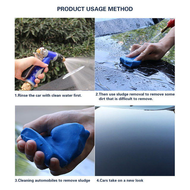 Auto Care Car Wash Tool Detail Magic Car Truck Cleaning Mud Clay Bar 100g Auto Cleaning Tool Reliable Decontamination Ability