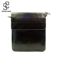 Luxury Brand Men Genuine Cowhide Leather Messenger Bag Male Small Business Briefcase High Quality Leisure Flap