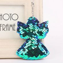 New Sequins Keychain Christmas Tree Bling Key Chain Keyring Car Bags  Pendants Jewelry Accessories Gifts( 8fef7f246d64