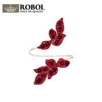 ROBOL Original New SWA GRACEFUL BLOOM Red Flower Collection Bracelet Camellia Petal Jewelry 5414603 Wedding Party Bracelet