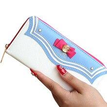 Hot Sale Bow Sailor Moon Women Long Change Purse Bow Wallet Clutch Bag Card Holder New Fashion LT88