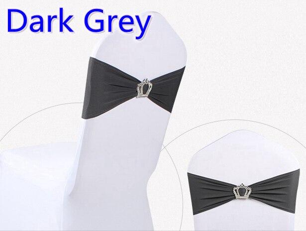Темно-серый цвет Корона пряжки лайкра створки для свадьбы стулья украшения спандекс Группа стрейч галстук-бабочка лайкра лента ремня распр...