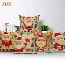 TOX Christmas decoration Santa Claus Sofa cushions 45x45Cm home Decoration Printed Pillow Cover custon throw pillows
