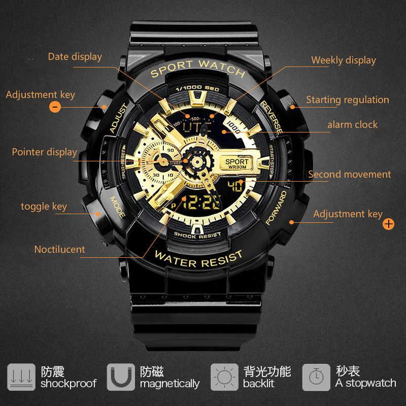 חיצוני ספורט אלקטרוני שעון, גרסה קוריאנית של פשוט עמיד למים והלם הוכחה רב תפקודי אלקטרוני שעון.