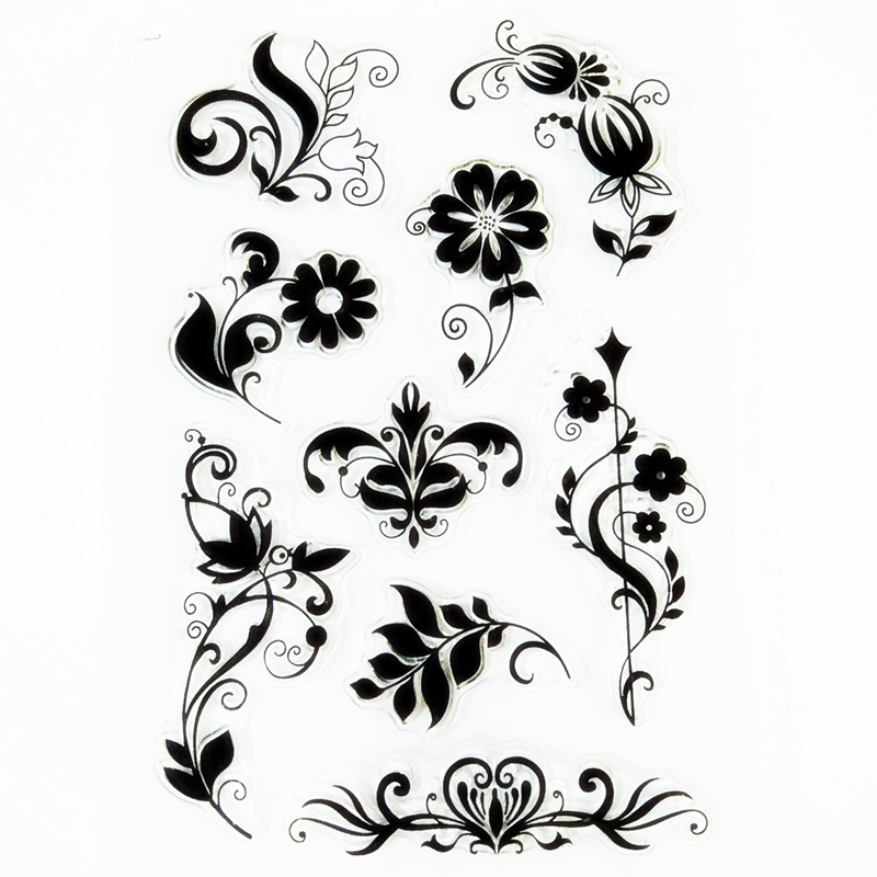 YLCS194 Flower Lace Silicone Clear Stamps For Scrapbook