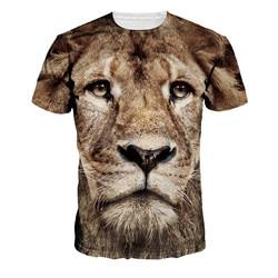2016 new fashion brand t shirt 3d lion print tops hip hop style summer casual clothing.jpg 250x250