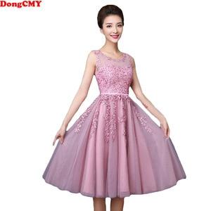 Image 1 - Dongcmy 2020 vestidos curtos de baile, mulheres mini roupa de festa de renda elegante