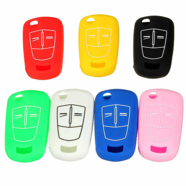 Nieuwe 7 Kleuren 2/3 Button Silicone Remote Key Cover Case Fob Voor VAUXHALL OPEL CORSA ASTRA