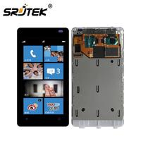 Srjtek LCD For Nokia Lumia 800 Display Touch Screen With Frame For Nokia Lumia 800 Digitizer