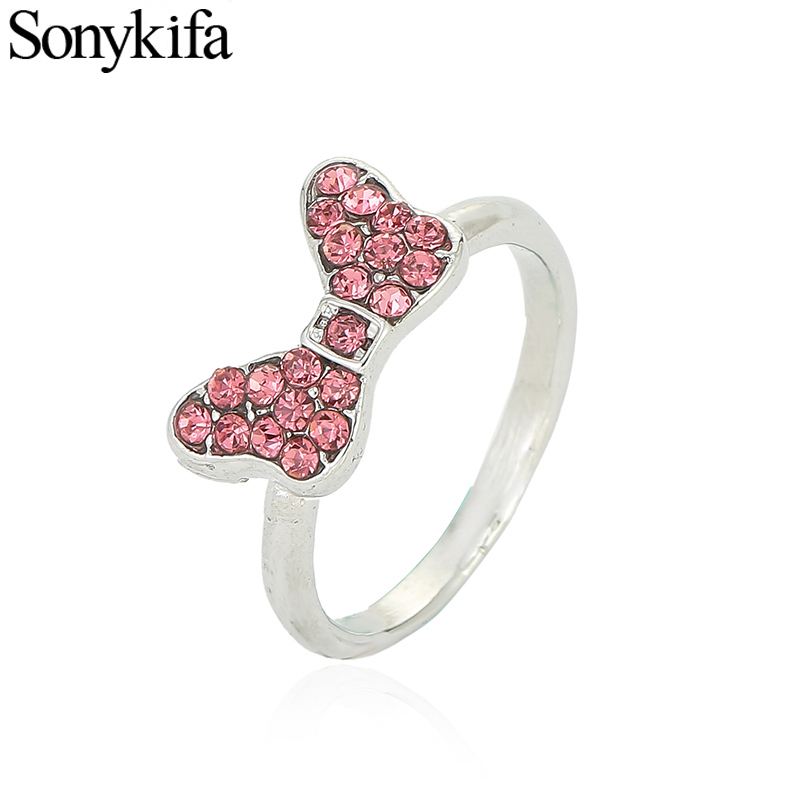 Sonykifa Authentic Silver Color Engagement Ring for Women Cute Mickey Pandora Rings Wedding Jewelry Dainty Female Finger Ring