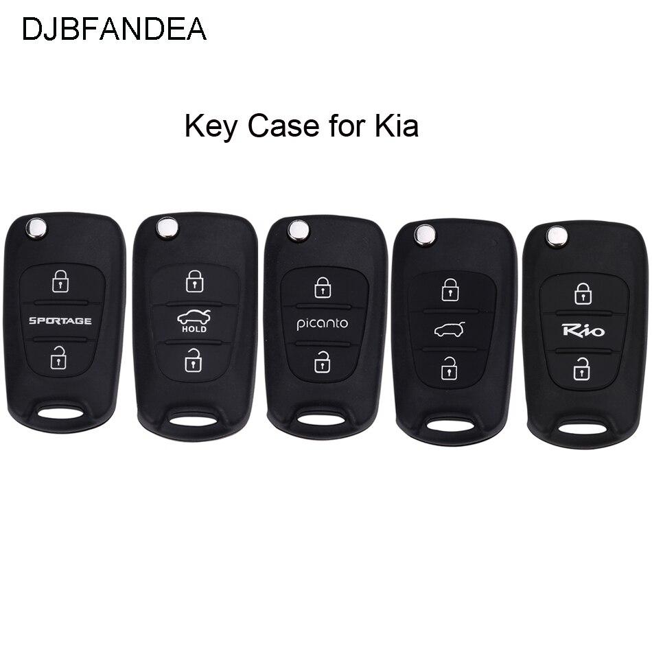 DJBFANDEA Fob Key-Case Hyundai Ix35 Sportage Rio For Kia 3button 2009 K2 K5 Piconto 2006