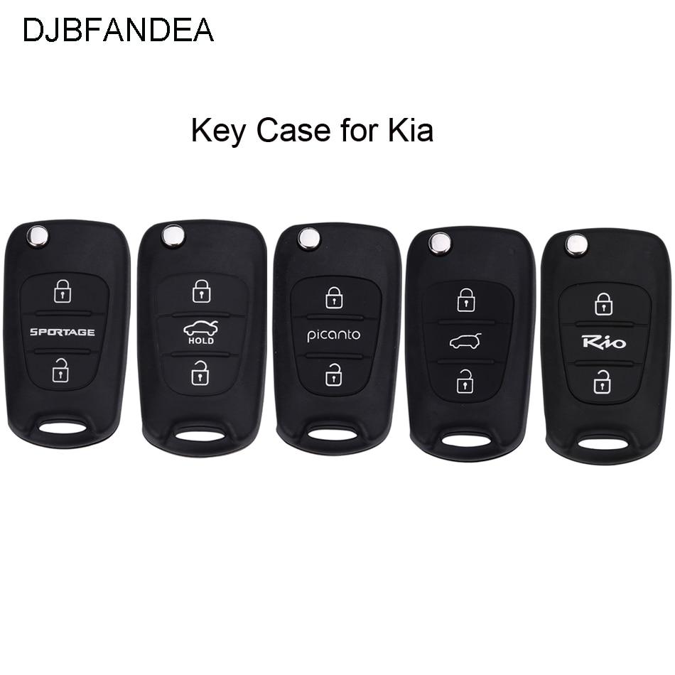 DJBFANDEA 3 Bouton pour KIA K2 K5 Rio Piconto Sportage 2006 2007 2008 2009 2010 2011 2012 2013 pour Hyundai ix35 porte-clés étui