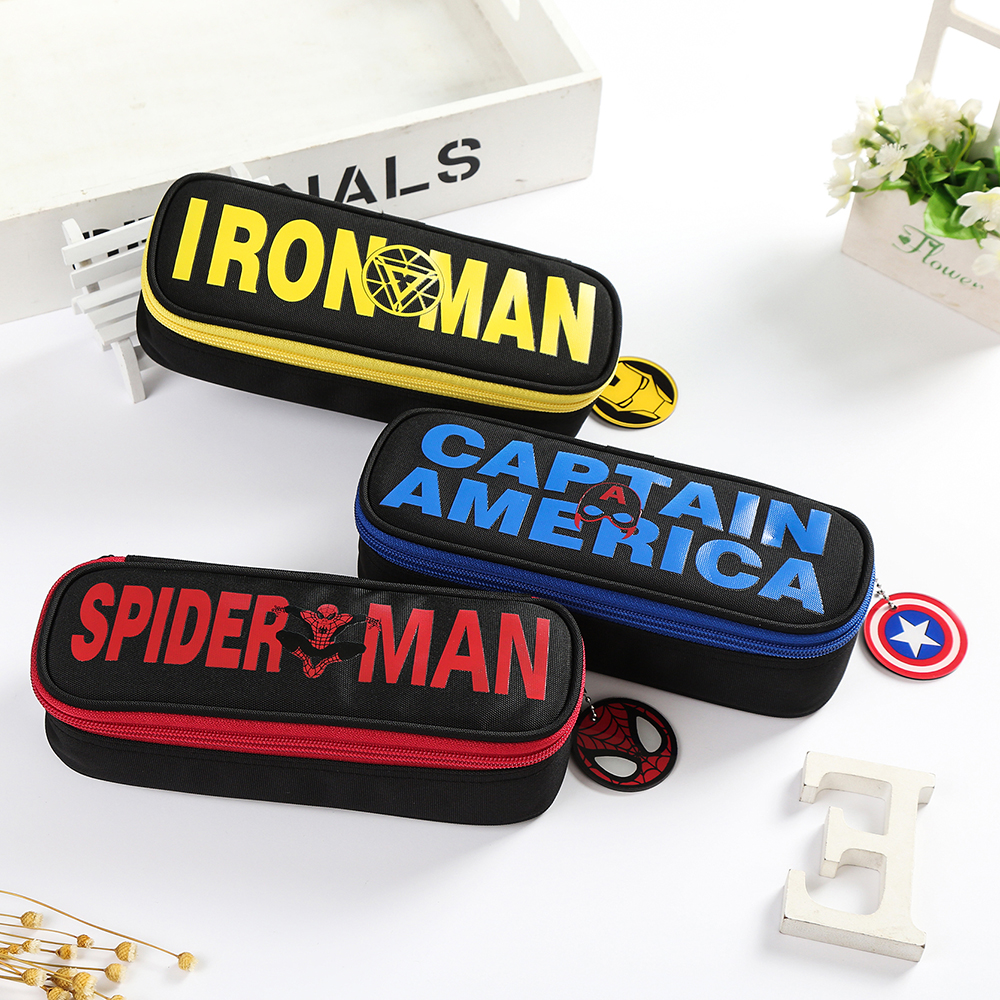 Novelty the Avengers pencil bag student stationery captain spider man iron man high quality pencil pouch super hero pencil case