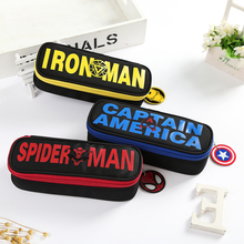 Buy Novelty the Avengers pencil bag student stationery captain spider man iron man high quality pencil pouch super hero pencil case directly from merchant!