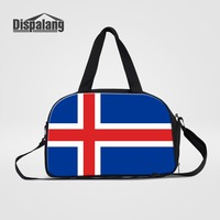 Dispalang National Flag Printing Travel Duffle Bags For Teenage Girl Boy Men Outdoors Clothes Organize Overnight Bag Weekend Bag