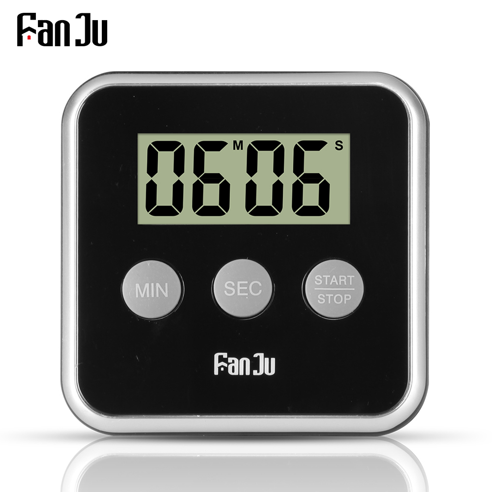 FanJu FJ231 Digital Timer Kitchen Countdown Magnetic Large Display Loud Alarm Easy to Use Mini Back Stand Cooking Timer