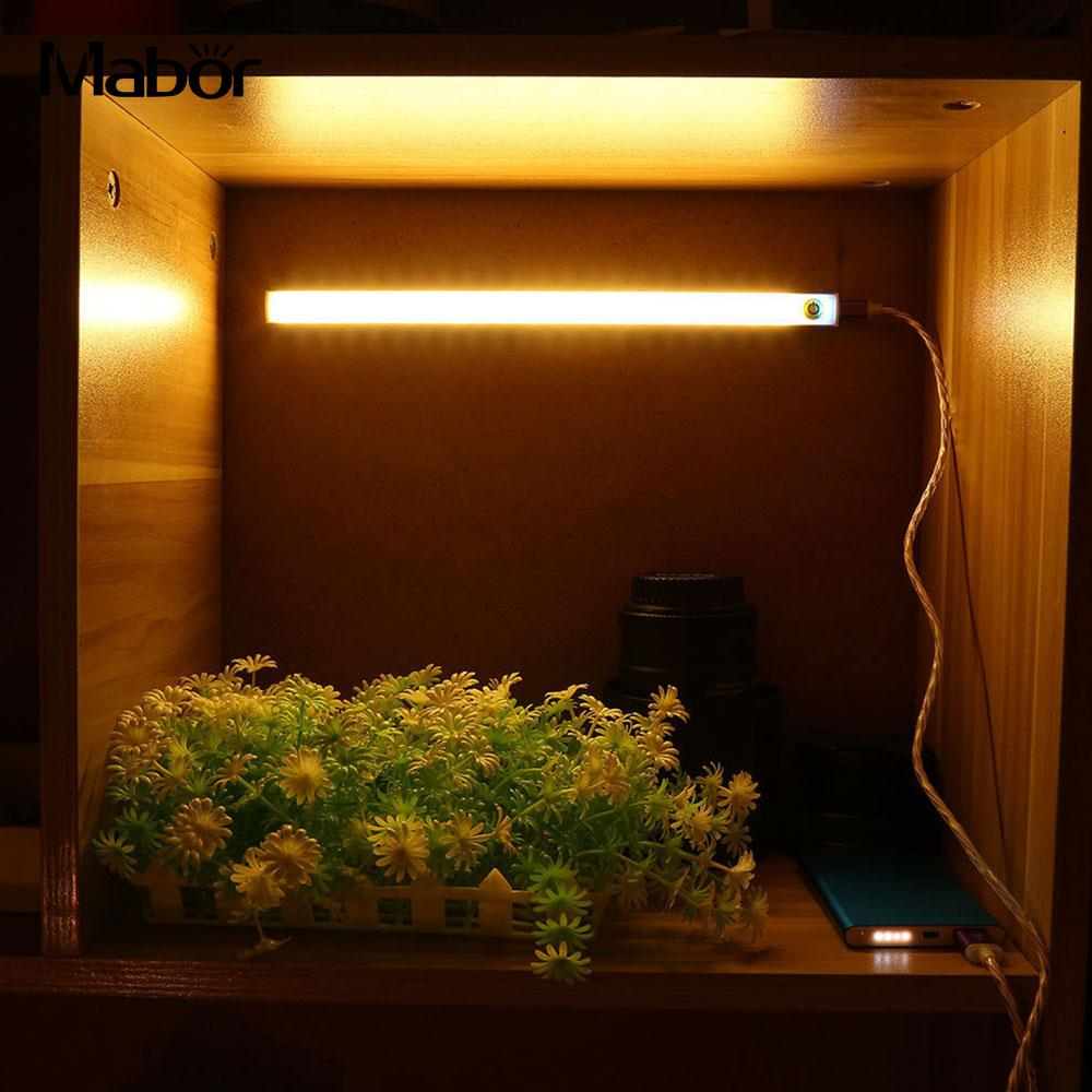 USB 30CM 6W LED Rigid Strip Hard Bar Light Tube Lamp DC5V +Touch Switch LED Strip Kitchen Hallway ABS Light Bar