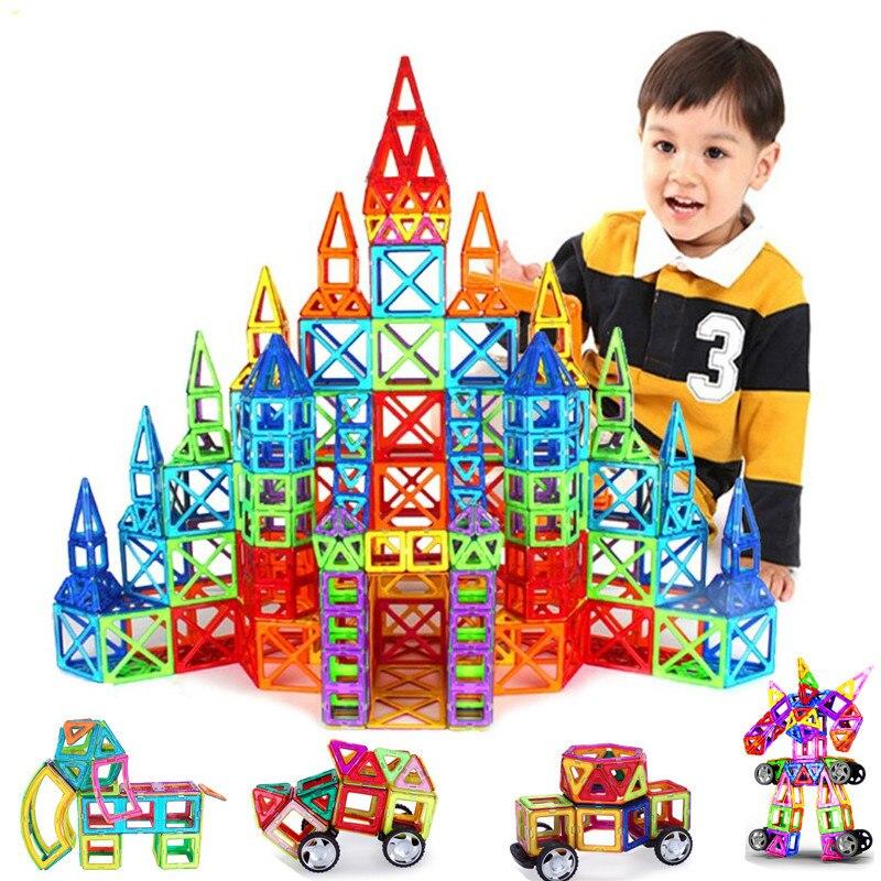 Constructor Set Toy Magnetic Blocks Educational Designer For Children 135PCS Big Size Magnetic Boys Girls Building Magnets