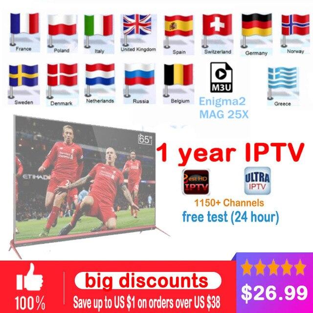 IPTV subscription Android TV Box + European Sweden Arabic