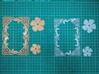 Rose Gold Metal Die Cutting Scrapbooking Embossing Dies Cut Stencils Decorative Cards DIY Album Card Paper