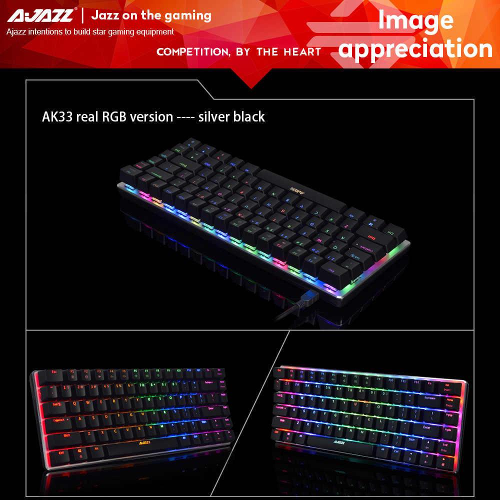 الأصلي AJAZZ AK33 الميكانيكية الألعاب لوحة المفاتيح RGB E-sport 82 مفاتيح USB السلكية مكافحة الظلال ل LOL الكمبيوتر سطح المكتب