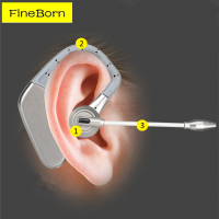 Fineborn Ergonomic Over Ear Wireless Bluetooth Earphones With Mic Voice Prompt Handsfree Business Headphone For Smartphone