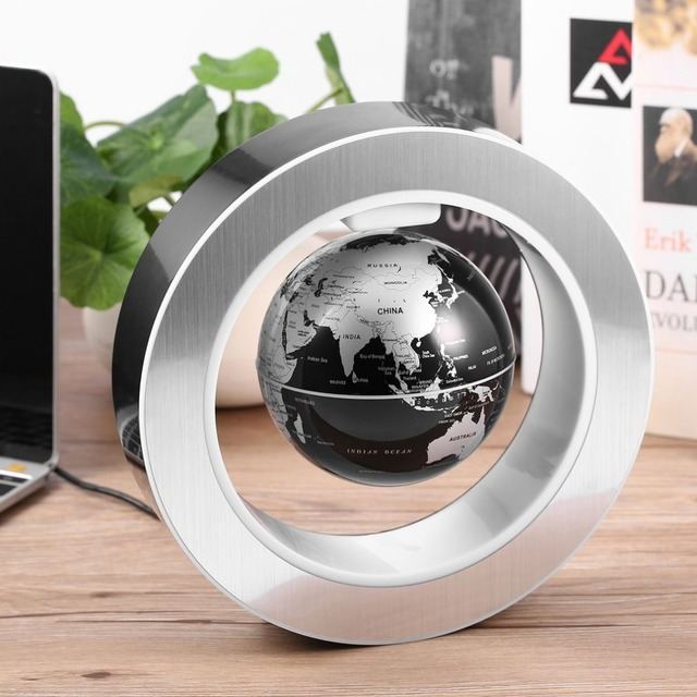 Aliexpress com   Buy ACEHE Geography World Globe Magnetic Floating     ACEHE Geography World Globe Magnetic Floating globe LED Levitating Rotating  Tellurion World map school office supply