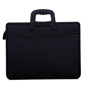 Image 1 - עסקים custom A4 רוכסן גברים מסמך שקיות קיבולת גבוהה נייד קובץ תיקייה/מקרה עבור מסמכים/הגשה