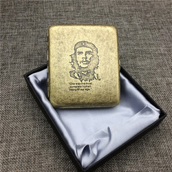 Fashion Chairman Mao Che Guevara MacArthur Classic Style Cigarette Case Bronze Material Cigarette Case Box Smoking Accessory