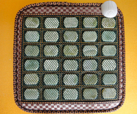2016 Natural Korea Jade Massage Cushion Temperature Control Jade Health Care Cushion Magnetic Therapy Heated Cushion 45cm*45cm