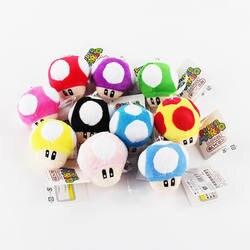 6 см 1 шт. Super Mario Bros брелок в форме гриба плюшевые подвески игрушки Японии аниме мини Луиджи Йоши Бесплатная доставка