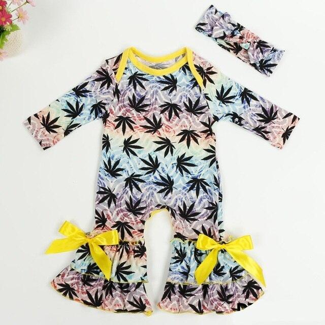 75869a3da Girls Clothing Spring Autumn Infant Jumpsuit Baby Icing Ruffled Leg ...