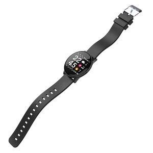 Image 2 - W8 ساعة ذكية مقاوم للماء الرجال النساء ضغط الدم مراقب معدل ضربات القلب توقعات الطقس اللياقة البدنية الرياضة Smartwatch ل أندرويد IOS