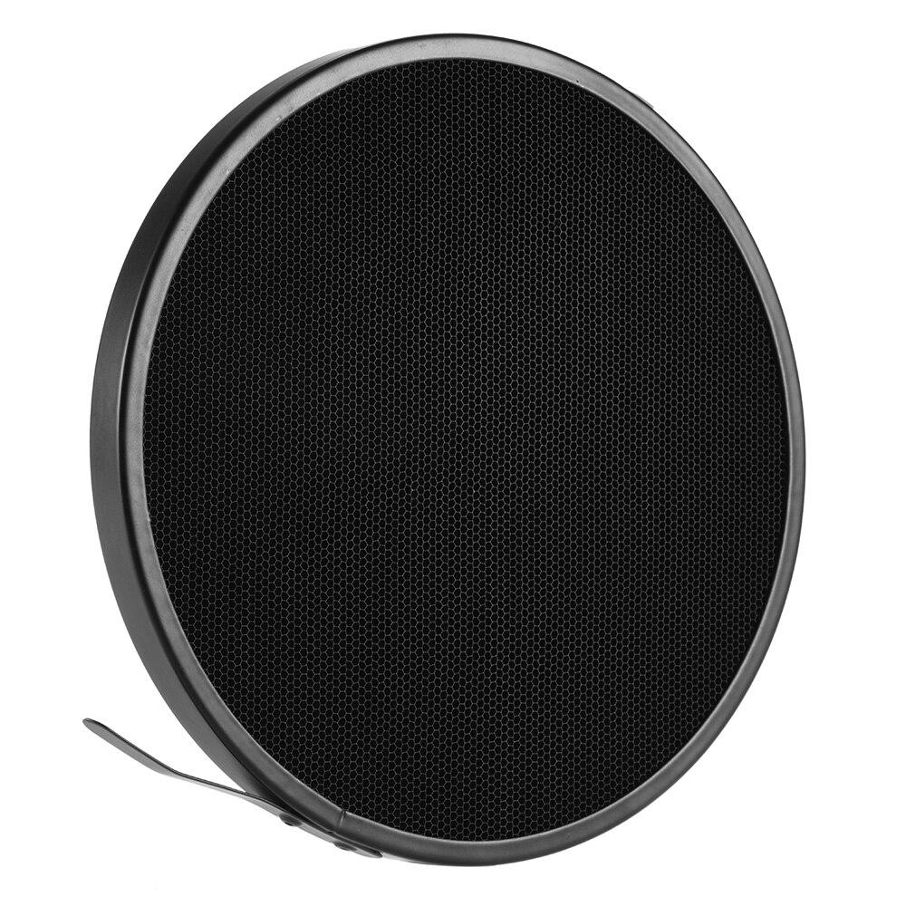 Haoge 7 Standard Reflector Diffuser Lamp Shade Dish For: 16.8cm 10 Degree Aluminum Honeycomb Grid Photo Studio