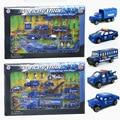 Aleación de modelos de coches de policía, juguetes de coches de policía 110 vehículo de rescate, modelo de vehículo. los niños de coches de juguete.