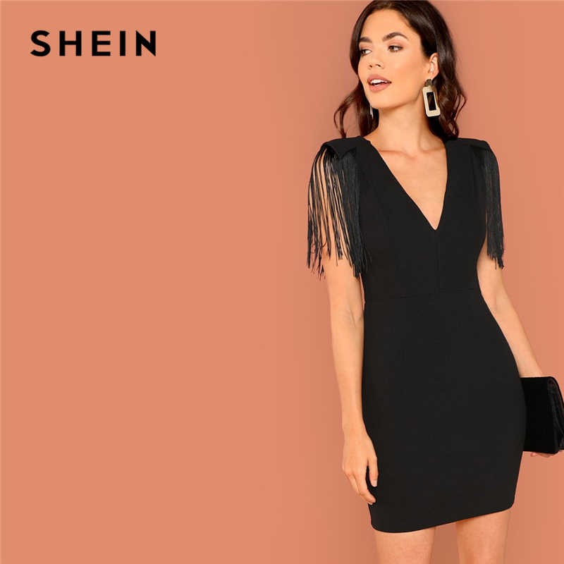 3716d2a637a5f Detail Feedback Questions about SHEIN Black Going Out Weekend Casual ...