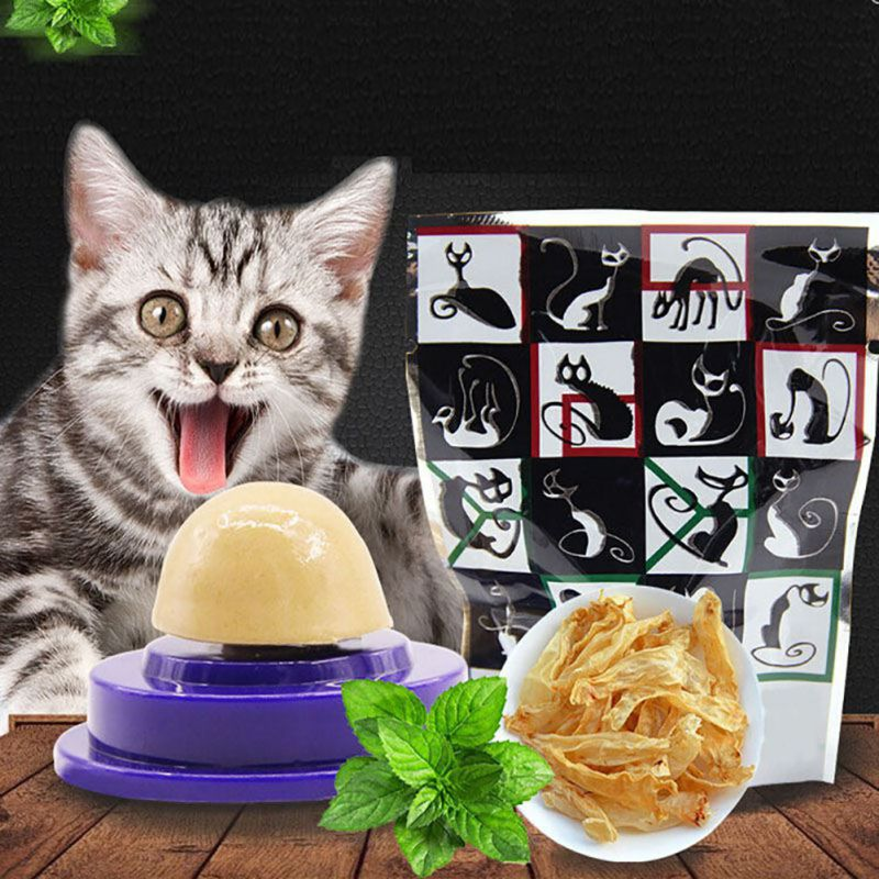 Yesbaby Cat Snacks Catnip Sugar Candy Licking Solid Nutrition Energy Ball Toys Healthy