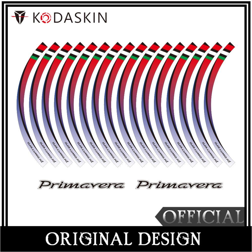 KODASKIN 2D Emblem Sticker Decal Wheel Rim for Vespa Primavera 125 Primavera 150 in Car Stickers from Automobiles Motorcycles