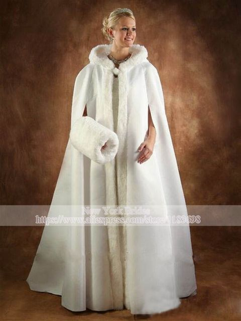 White Ivory Bridal Shrug Winter Faux Fur Cape Wedding Cloaks Louisvuigon Jacket Bolero