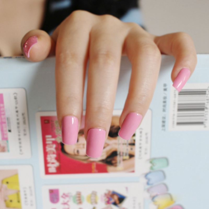 Beautiful Candy False Nails Princess Pink Square Nail Long Nail Tips ...