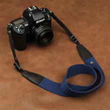 เวบแคมใน8001 8015ยูนิเวอร์แซปรับผ้าฝ้ายหนังกล้องสายคล้องคอไหล่แบกเข็มขัดสำหรับCanon Sony Nikonกล้องSLR
