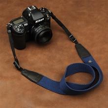 Cam in 8001 8015 uniwersalny regulowany bawełniany skórzany pasek od aparatu szyi na ramię pas do przenoszenia dla Canon Sony Nikon lustrzanka