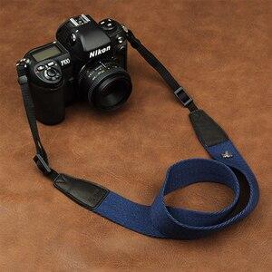 Image 1 - Cam in 8001 8015 العالمي قابل للتعديل القطن والجلود شريط كاميرا الرقبة الكتف تحمل حزام لكانون سوني نيكون SLR كاميرا