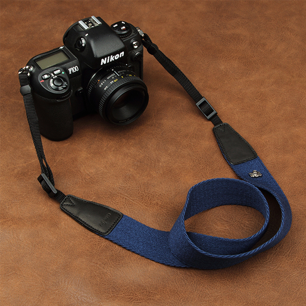 Cam-in 8001-8015 Universal Adjustable Cotton Leather Camera Strap Neck Shoulder Carrying Belt For Canon Sony Nikon SLR Camera