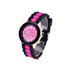 Fashion Men Women Watches Colorful Unisex Geneva Silicone Jelly Gel Quartz Analog Sports Wrist Watch Casual Mens Clock Hot Sale
